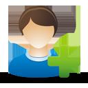 Agregar usuario masculino - icon #193303 gratis