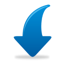 Blue Arrow Down - icon gratuit #193813