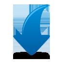 Flèche bleue vers le bas - icon gratuit #193813