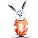 Lapin oeuf rouge - icon gratuit #193853
