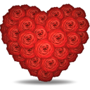 Roses Heart - icon gratuit(e) #194353