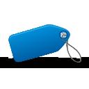 etiqueta azul - icon #194963 gratis