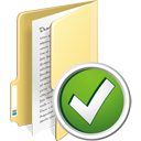 Folder Accept - icon gratuit #195333