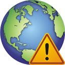 Globe Warning - icon gratuit #195383