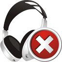 Headphones Delete - Free icon #195393