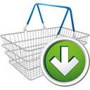 Shopping Cart Down - Kostenloses icon #195673