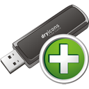Usb Stick Add - icon gratuit #195703