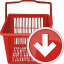 Shopping Cart Down - icon gratuit #196703