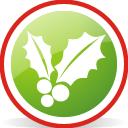 Christmas Mistletoe Rounded - Free icon #197053
