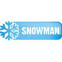 Снеговик кнопка - бесплатный icon #197123