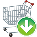 Shopping Cart Down - Kostenloses icon #197683