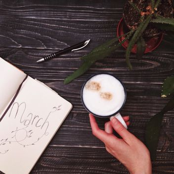 Coffee and a diary - Kostenloses image #198503