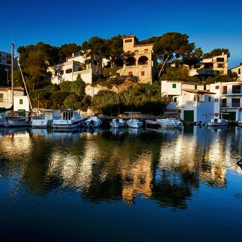 Yachts and architecture, Mallorca island - бесплатный image #198553