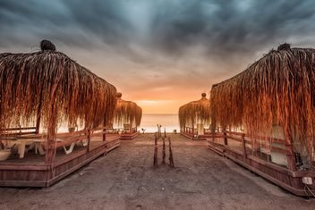seaside at sunset - image #198673 gratis