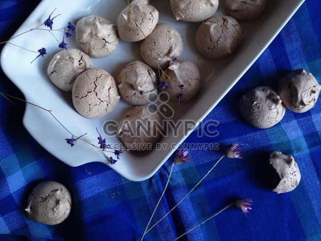 Homemade cookies on blue background - Free image #198873
