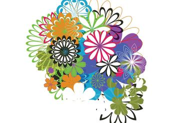 Random Free Vectors - Part 7: Flowers - Free vector #199083