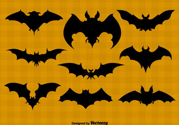 Bat silhouettes - Kostenloses vector #199143
