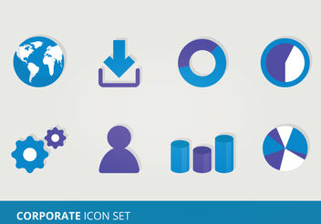 Corporate Vector Icons - Free vector #199193