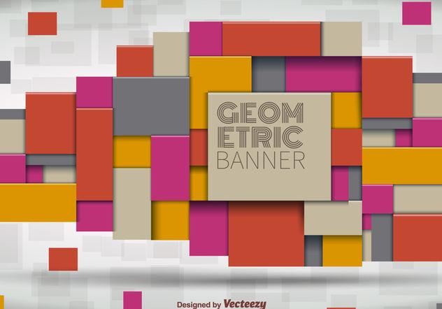 Geometrical Banner - Free vector #199223