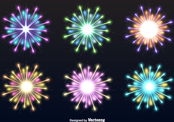 Fireworks explosions - Free vector #199273