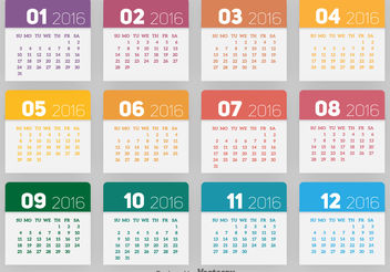 2016 calendar - Free vector #199293