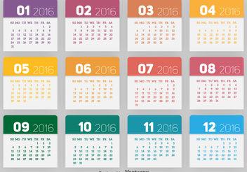 2016 calendar - vector #199293 gratis
