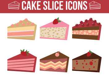 Cake Slice Vectors - vector gratuit #199323