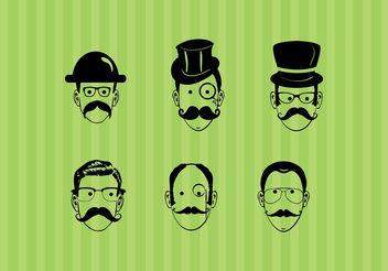 Creative Men faces - Free vector #199403