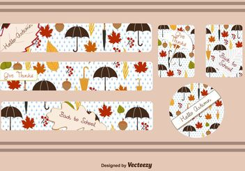 Fall Leaf Banner Vectors - Free vector #199423