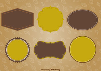 Autumn labels and frames - vector #199433 gratis