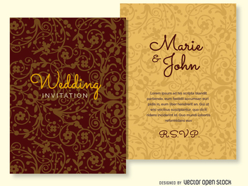 Wedding invitation ornamented background - vector #199673 gratis