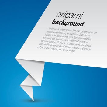 Origami Paper Business Background - vector #199693 gratis