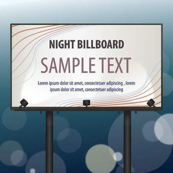 Billboard Template with Lights - Kostenloses vector #199773