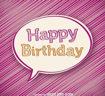 Happy Birthday bubble - vector gratuit #199803