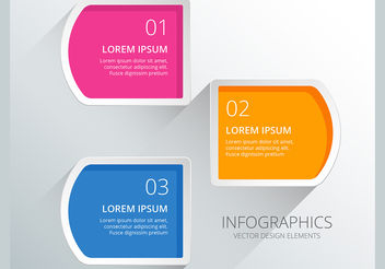 Infographics numbered diagram vector - Free vector #199963