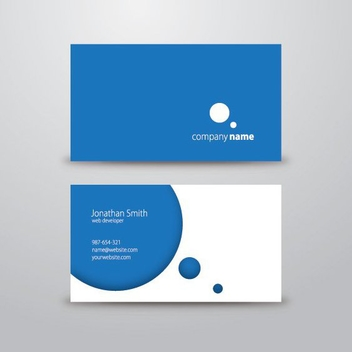 Classy Blue Business Card - Free vector #200063
