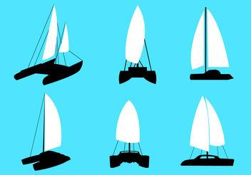 Catamaran Vectors - бесплатный vector #200213