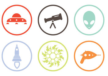 Alien Icons - Free vector #200273