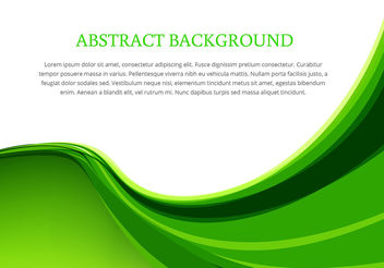 Green wave background design vector - vector gratuit #200313
