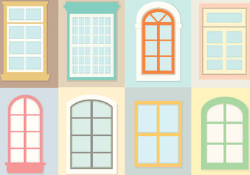 Decorative Windows Vectors - vector gratuit #200353