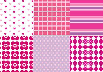 Pink Pattern Vectors - Free vector #200373
