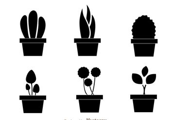 Black Planter Vectors - Free vector #200413