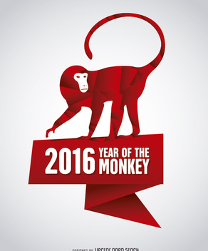 2016 Year of the Monkey - бесплатный vector #200513