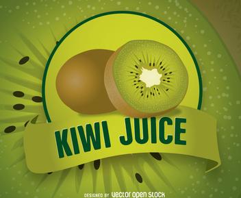 Kiwi Juice Logo - Kostenloses vector #200523