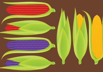 Ears of Corn Vectors - vector gratuit #200543