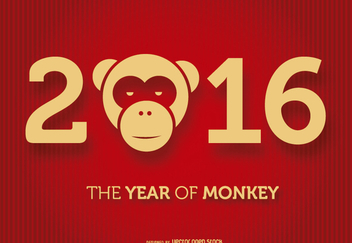 2016 Year of the Monkey - Free vector #200653