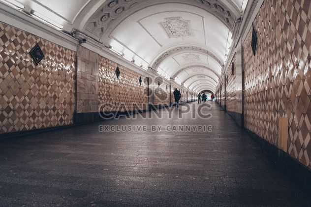 Tunnel at Moscow subway - Free image #200733