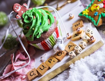 Christmas cupcake - Kostenloses image #200793