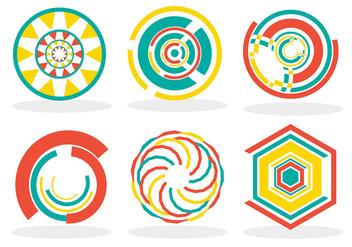 Crop circles vector - Free vector #200893