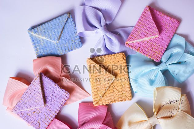 Cookies With A colorful Bows - Free image #201023